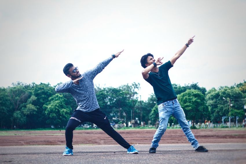 Sport Boys Two People Standing Sports Clothing Day Outdoors Full Length Fun MomentsToRemember Frndzzzz