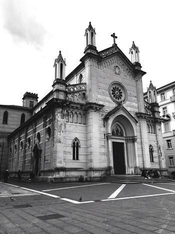 Italy Architecture Religion Built Structure Building Exterior Church Campania Avellino Blackandwhite Black And White
