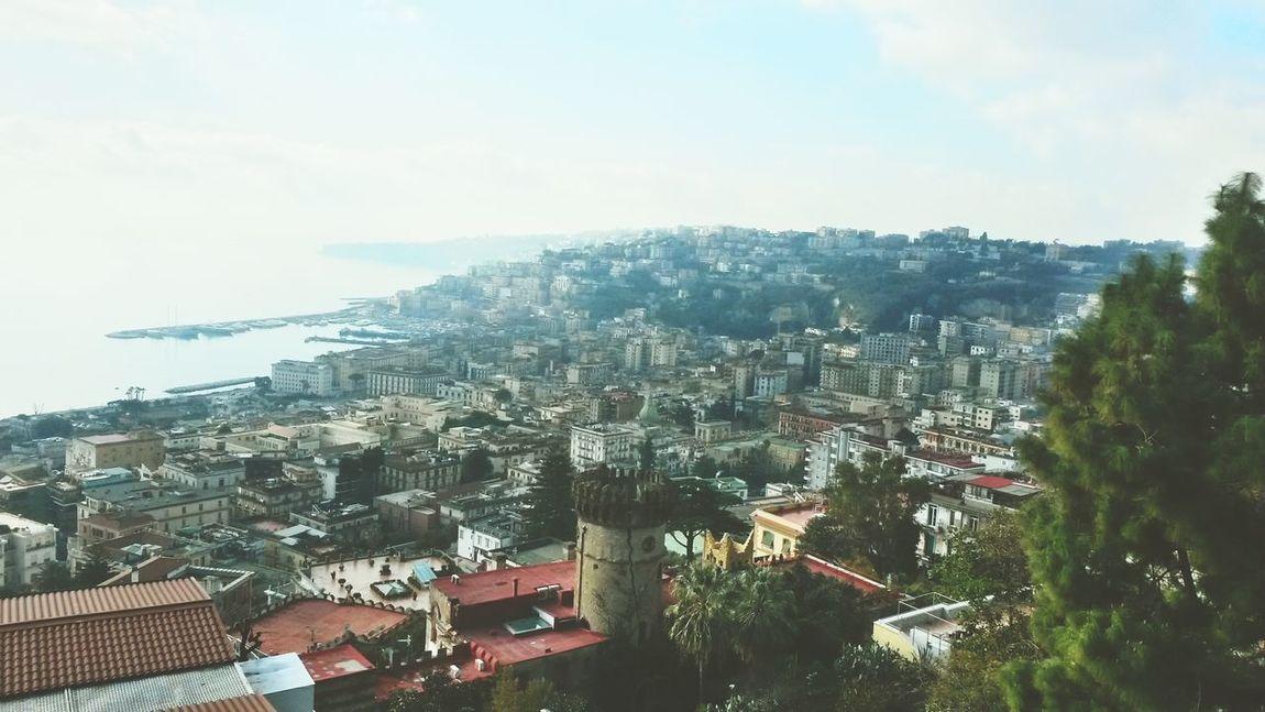 Napoli Panorama Houses Sea Beautiful Posillipo