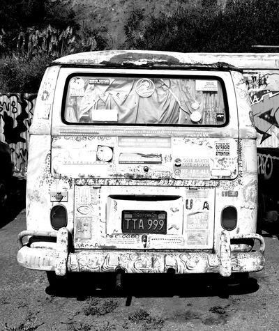 Old Van Abandoned Day Homelessness  No People Outdoors Transportation Volkswagon Van