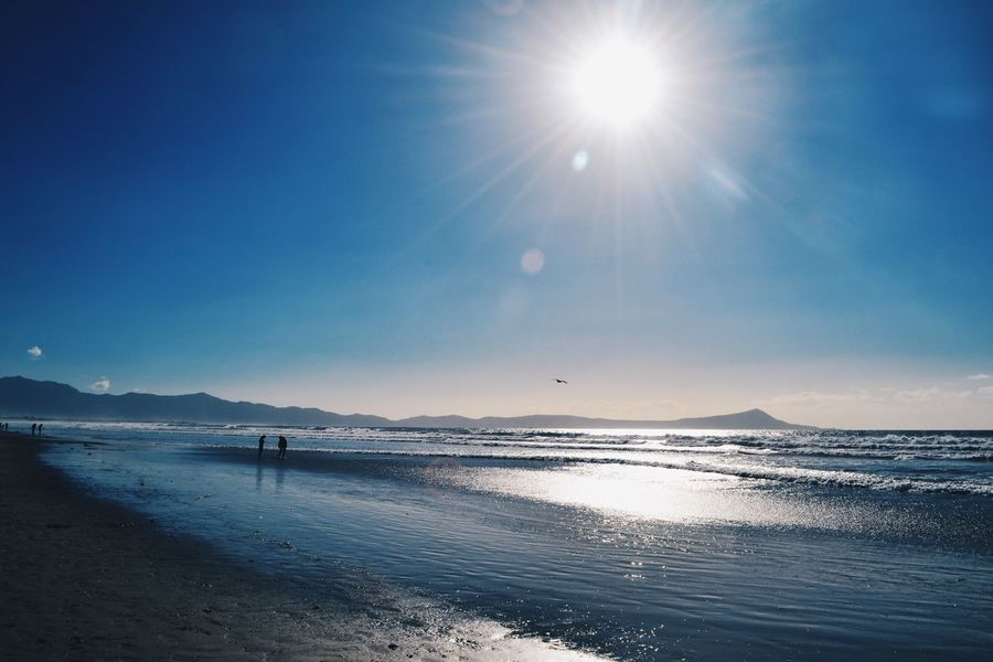 Horizon Over Water Sea Beach Sun Sunlight Nature Sky Beauty In Nature Water Scenics Sunbeam Sand Tranquility Outdoors Clear Sky Day EyeEm Bes T Shots EyeEm Gallery EyeEm Nature Lover Landscape EyeEm Tranquil Scene Nature Blue