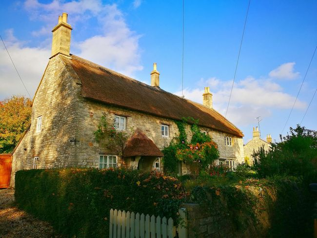 Architecture Tree House Sky Outdoors Cloud - Sky Built Structure Building Exterior No People Day Nature Cotswolds Cotswold Way Village Idyllic Rural Scene Autumn Colours Cotswold Stone Cotswold Cottage