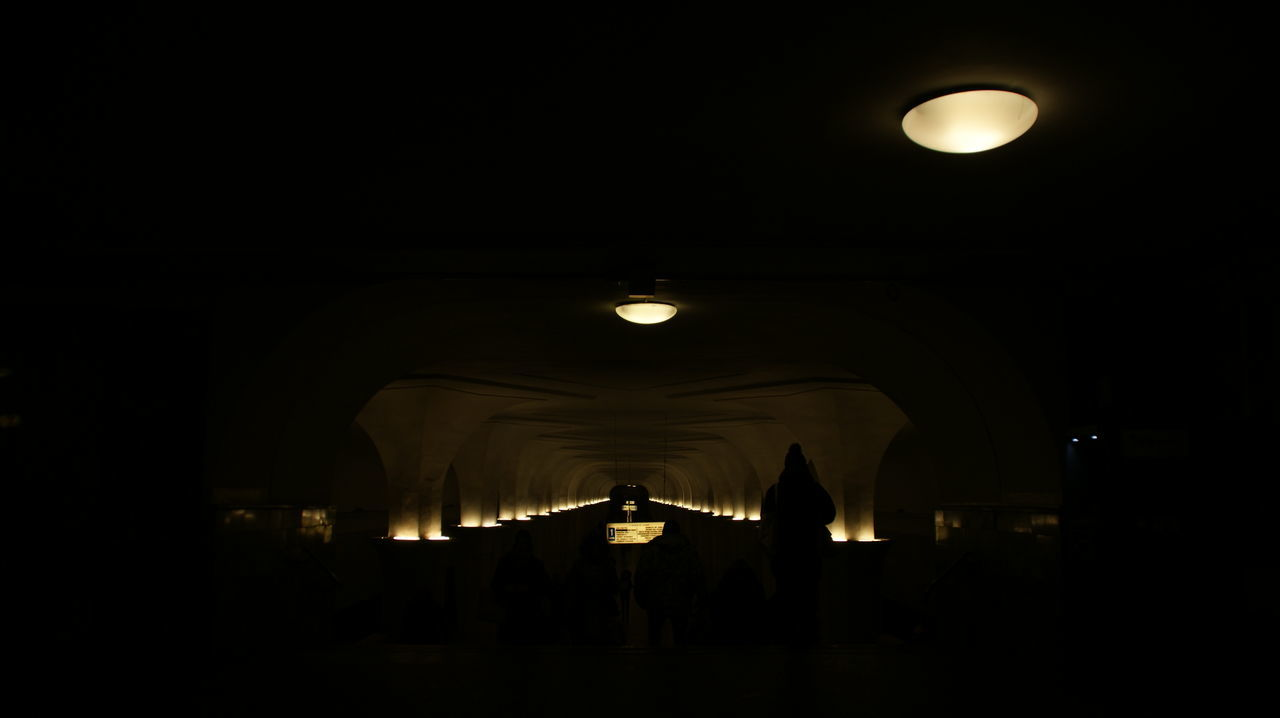 ILLUMINATED LIGHTS IN ROOM