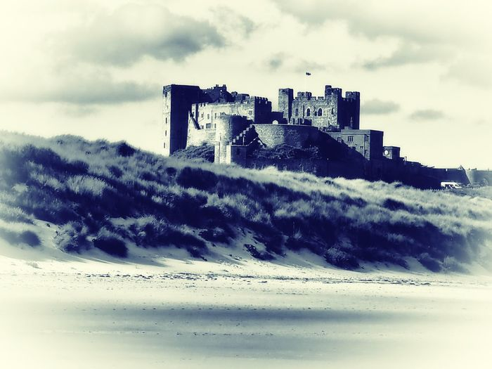 Castles Bamburgh Northumberland Black And White
