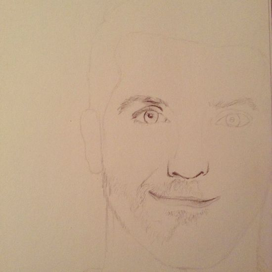 I've started Drawing Bradley Cooper