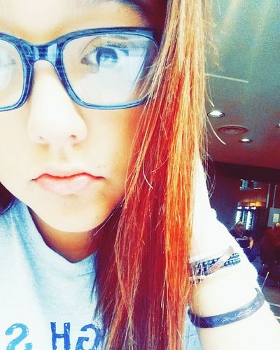Recently dyed my hair red That's Me Red Hair Glasses College Life First Eyeem Photo