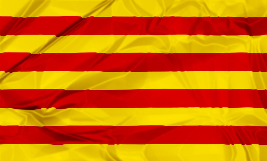 Waving flag of Catalonia of Spain, red and yellow stripes. 3d background. Catalonia Photography Catalonia Is Not Spain Catalonia Square International Patriot Patriotism Abstract Backgrounds Blue Catalonia Culture Catalonia Flag Close-up Flag Flags In The Wind  Folded Full Frame Indoors  No People Patriotism Pattern Red Shape Striped Textile Textured  Textured Effect Wave Pattern Yellow