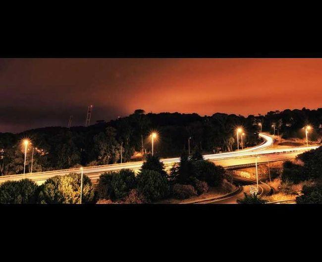 EstadioNacional Portugal Long Exposure Postprocessing Travel Travelphotography Street Light Night Orange Color Streetphotography Street Photography