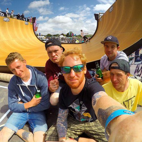 VIP pass at Nass Enjoying Life Sun Colour Skateboarding