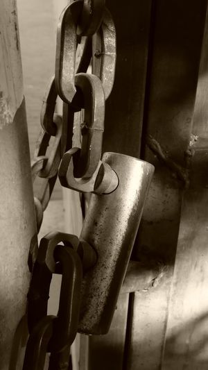 Metal Connection Close-up No People Indoors  Chain Hanging Rusty Day Strength Security Safety Protection Still Life