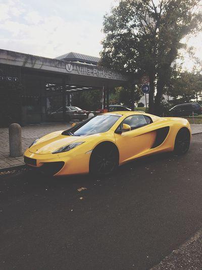 First Eyeem Photo Car McLaren SuperSport Prague Czech Republic Yellow