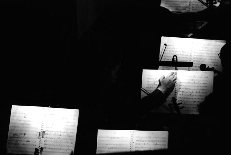 Indoors  Only Men Men One Man Only Music Orchestra Orchestra Concert  MusicNotes Hand Manhands Dirigente Bnw Black Blackandwhite Blackandwhite Photography Concert One Person Shadowhunters Minimal Working Musician Music Photography  Musical Instrument Musicians Musical Photos