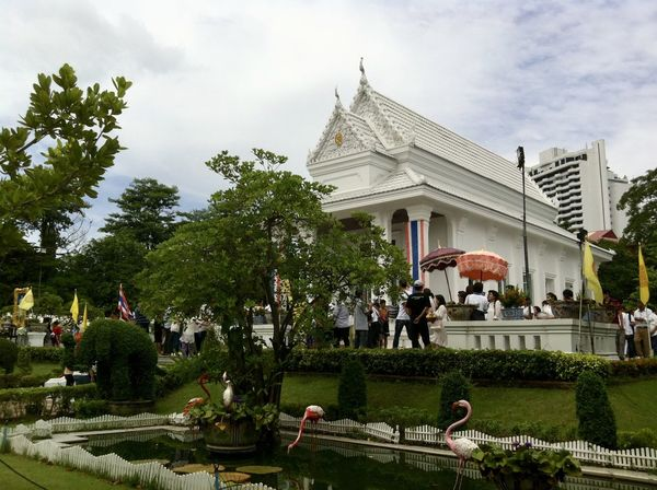 Ordination Ceremony in Thai Temple Architecture Building Exterior Built Structure Cloud - Sky Day Growth Large Group Of People Lifestyles Men Nature Ordination Ceremony Outdoors People Place Of Worship Real People Religion Sky Spirituality Thai Temple Tree Wat Praram 9 Water