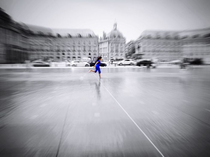 Feel the speed Needforspeed Need For Speed Girl Running Girl Power EyeEmBestPics Eye4photography  Eyeemphotography EyeEm Best Shots EyeEmbestshots France Bordeaux, France Placedelabourse Fast Quick Bolt Lightening Splash Mirror Reflection