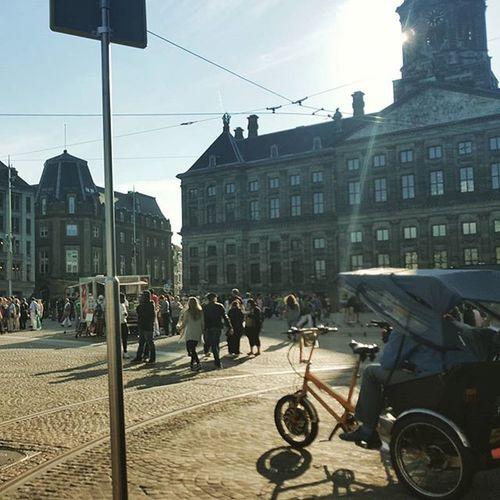 Amsterdam Thenetherlands Biketaxi Thankyouamsterdam 18euro amsterdamcentralstation damrak