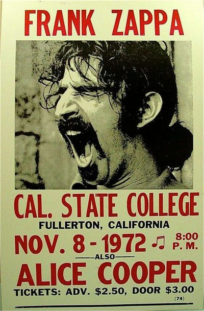 Look at the price of the content, unbelievable Frank Zappa Concert 1972 Streamzoofamily Music History