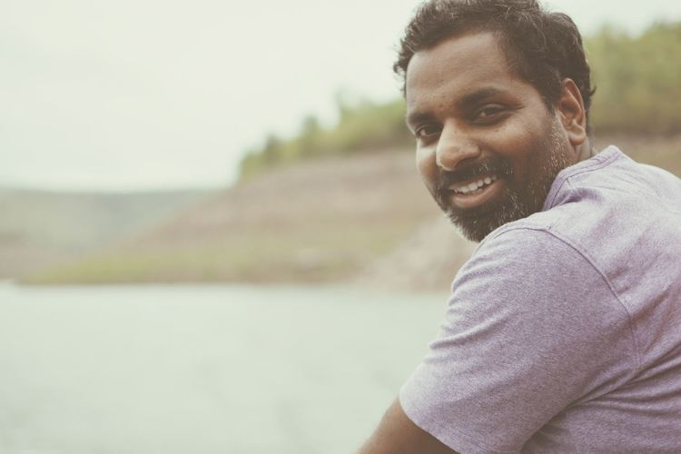 EyeEm Selects Only Men Adults Only Beard Adult One Person Smiling One Man Only Men Headshot Portrait Looking At Camera Handsome Outdoors Nature Day Happiness Vacations Young Adult Cheerful People Srisailam EyeEmNewHere