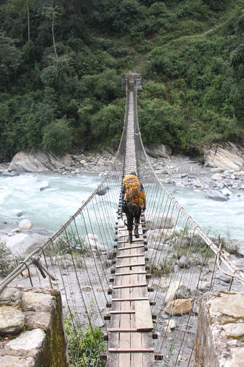 Adventure ASIA Backbag Bridge Hiking Himalaya Nepal Trakking The Great Outdoors - 2017 EyeEm Awards Lost In The Landscape