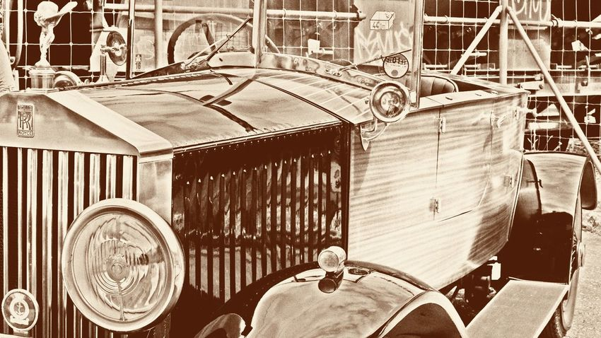 Car Car Exhibition Close Up Close-up Detail Filter Land Vehicle Machine Part Machinery Mode Of Transport Oldie  Oldtimer Parked Part Of Rolls-Royce Stationary Vintage Vintage Cars Vintage Filter Vintage Photo 16/9 Fine Art Photography