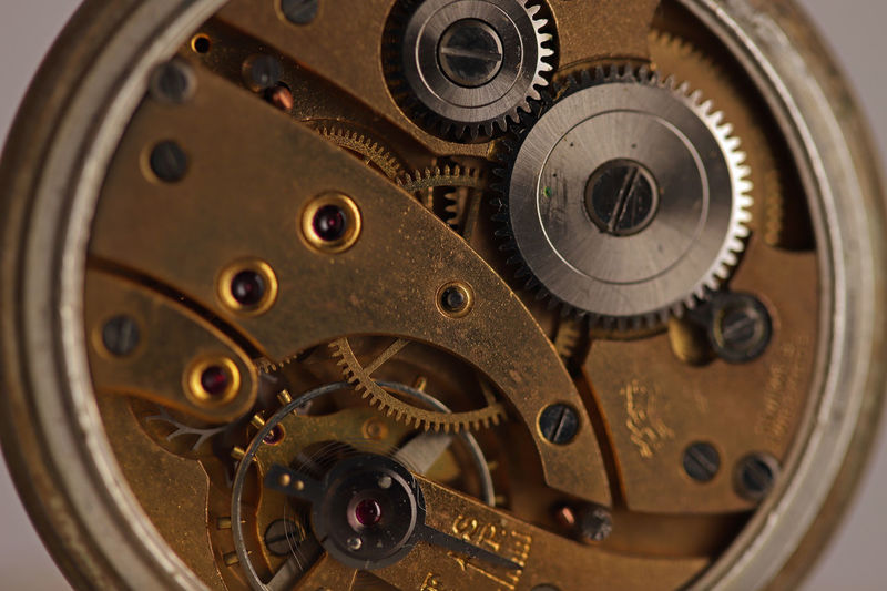 The mechanics of time Still Life Clock Time Circle Watch Technology Antique Indoors  Metal Equipment Gear Machinery Close-up Complexity No People Accuracy Geometric Shape Machine Part Clockworks Indoors