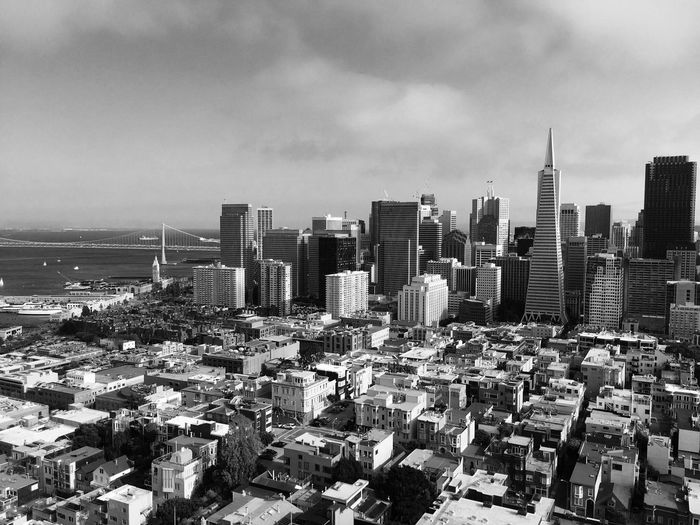 Downtown San Francisco Against Cloudy Sky
