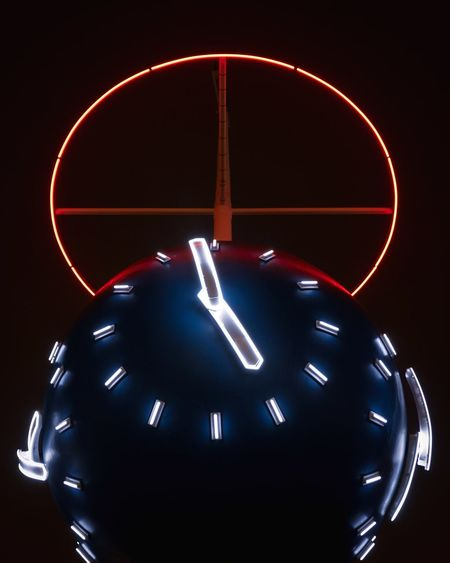 Almost five Neon Lights Neon Five O Clock Five O'clock Geometry Skanstull Night Lights Architecture Minimalism Illuminated Clock Time No People Indoors  Night Long Exposure Glowing Number Close-up Light - Natural Phenomenon Instrument Of Time Circle Shape Geometric Shape Clock Face Deadline