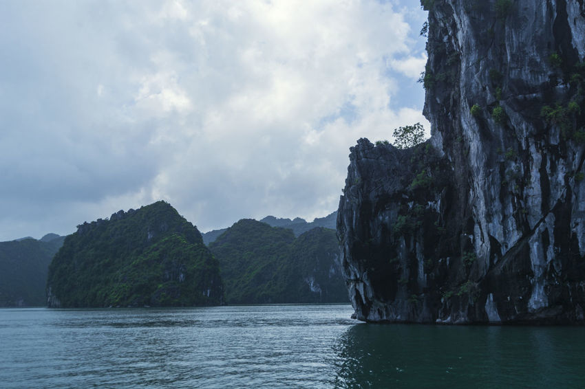 Vietnam Halong Bay Beauty In Nature Day Environment Landscape Mountain Nature No People Outdoors Scenery Scenics Sea Sky Tranquility Tree Water