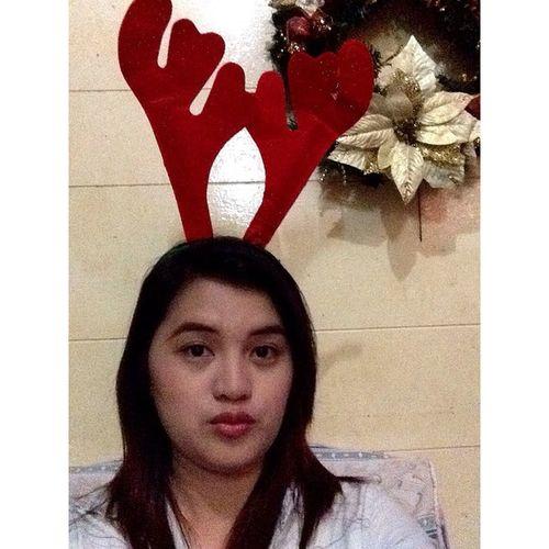 Christmas selfie 😊 Reindeer 2014 24thdec