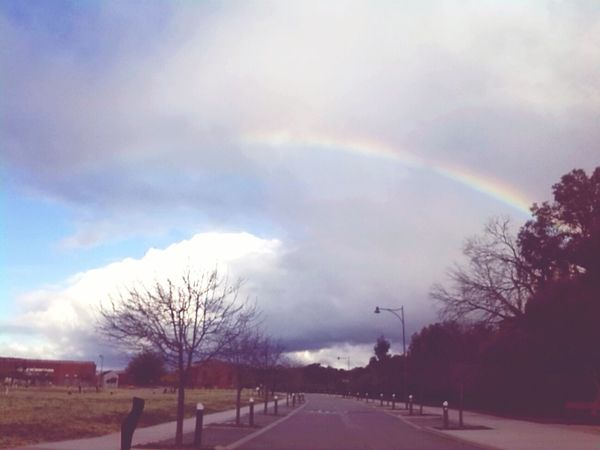 Rainbow Cloudyday Check This Out Hello World