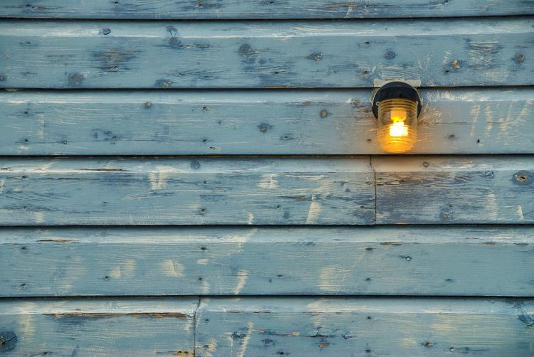 Light Wood Blue Yellow Light Up Your Life Lights Lighting Shiny Shine Facades Wooden House Colours Lamp Lamplight