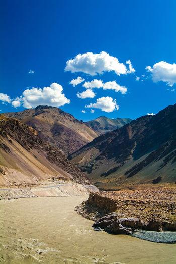 Himalayas India Indus River Jammu And Kashmir Ladakh Landscape Leh Nature Outdoors Travel Travel Destinations