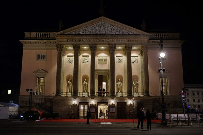 Staatsoper Berlin Wiedereröffnung 03.10.2017 Architectural Column Architecture Building Exterior Built Structure City Illuminated Large Group Of People Night Outdoors People Real People Sculpture Sky Staatsoper Statue Travel Travel Destinations