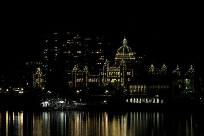 Government legislature in Victoria, British Columbia, Canada. Government Building Victoria Architecture British Columbia Building Exterior Built Structure City Dome Illuminated Legislature  Night No People Outdoors Place Of Worship Religion Sky Travel Destinations Vancouver Island Canada Water Waterfront