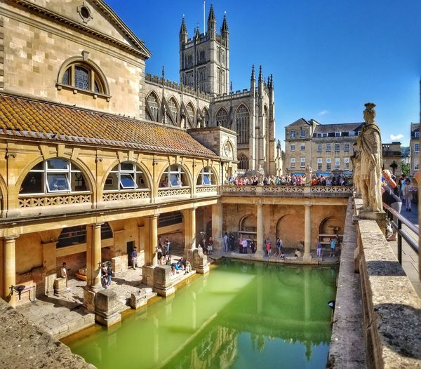 Architecture Built Structure History Roman Bath England Bath City Roman Bath