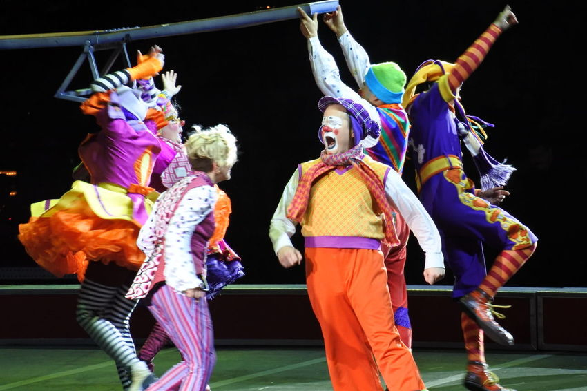 Blue Casual Clothing Circus Clown Illuminated Multi Colored Show Circusimages Ringling Bros People And Places