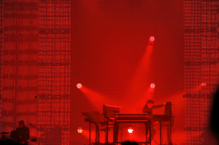 Architecture Brussels Expo Built Structure Close-up Concert Concert Photography Curtain Day Illuminated Jean Michel Jarre No People Outdoors Red