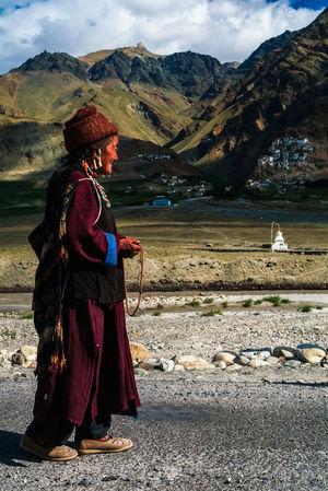 Karsha or Kursha Gompa in Zanskar valley Folk India Jammu And Kashmir Karsha Kursha Ladakh Leh Mountain Padum People Traditional Clothing Travel Zanskar