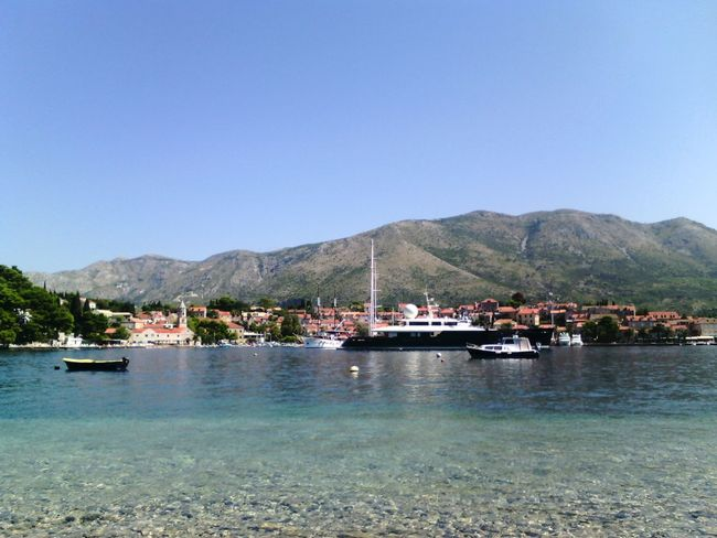 Blue Moored Travel Destinations Water Nautical Vessel Clear Sky Outdoors Mountain No People Vacations Day Beauty In Nature Pedal Boat Sky Astrology Sign Adriatic Sea Dalmatia Croatia ❤