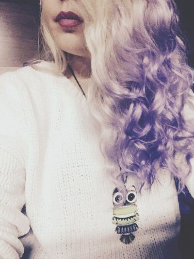 Let Your Hair Down Purplehairdontcare Blondie Messy Hair Culrs Ombre Hair Owl Sweather