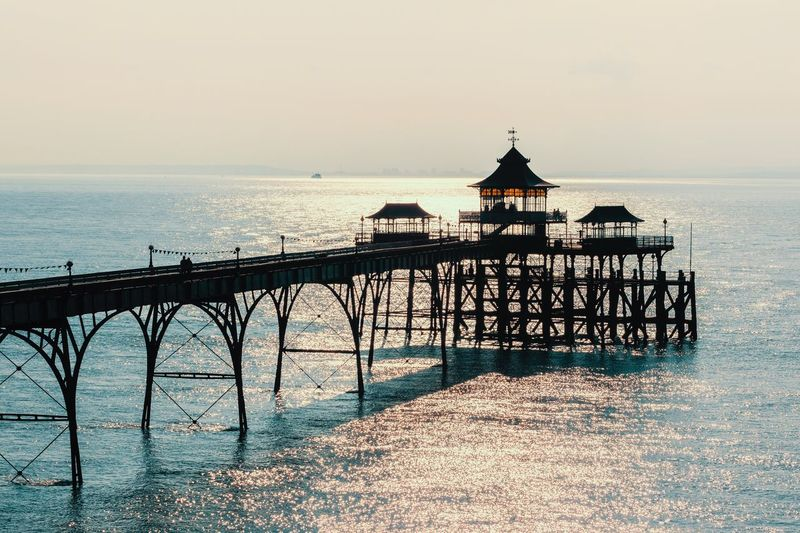 Clevedon pier Coast Marine Uk Somerset Clevedon Clevedon Pier Pier Sea Water Sky Horizon Horizon Over Water Architecture Scenics - Nature Beauty In Nature Nature Railing Built Structure Tranquility Beach Tranquil Scene Silhouette Clear Sky Outdoors Land Real People