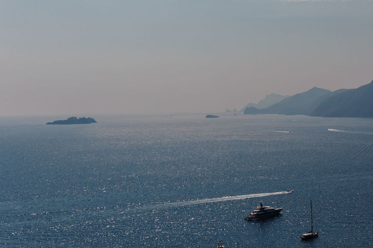 Amalfi Coast, Italy Amalfi Coast Positano Positano, Italy Italy Nautical Vessel Water Sea Transportation Mode Of Transportation Scenics - Nature Sky Waterfront Beauty In Nature Nature Tranquility Tranquil Scene Day Non-urban Scene Travel Ship Sailing Mountain No People Outdoors Sailboat