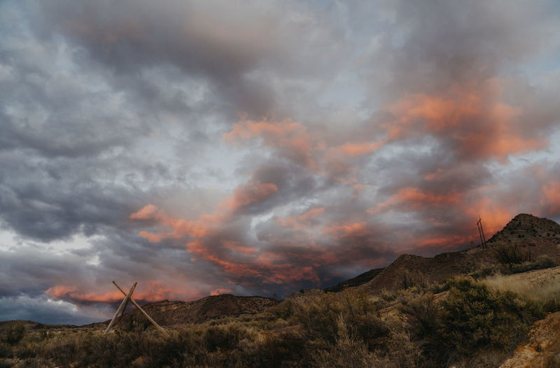 Utah Mystic Hot Springs Dramatic Sky Sunset Sky Clouds And Sky Clouds Pink Sky Pink Sunset Beauty In Nature Scenics - Nature Environment Mountain Cloud - Sky Nature Tranquil Scene Non-urban Scene Tranquility No People Landscape Outdoors Orange Color