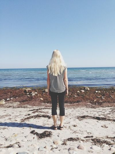 Sea Beach Me Blonde Hair