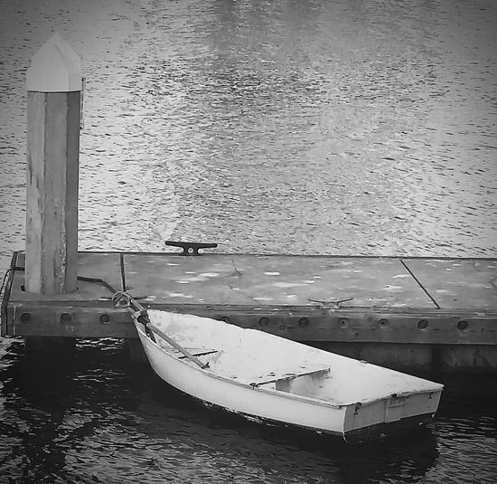 Monochrome Photography Blackandwhitephoto Sail Boat Water Reflections Peace And Quiet Tranquil Scene Wooden Pier Anchor Waiting For You Seatfortwo Oceanside Harbor Curtis Landing