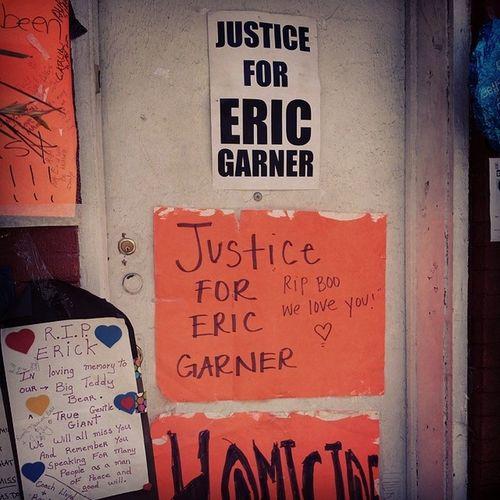 JusticeForEricGarner vigil in Statenisland