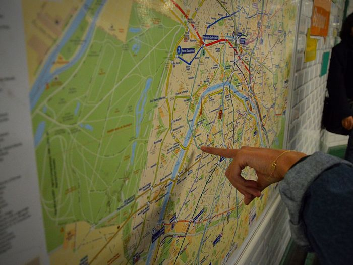 Finding New Frontiers Map Lifestyles Close-up Human Hand Metro