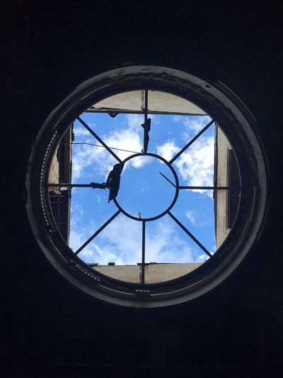 Exploring an abandoned place Sky Clouds Dome Contrast Circle Gets The Square Have A Nice Day! Abandoned Buildings Travel Photography Burned For My Friends That Connect
