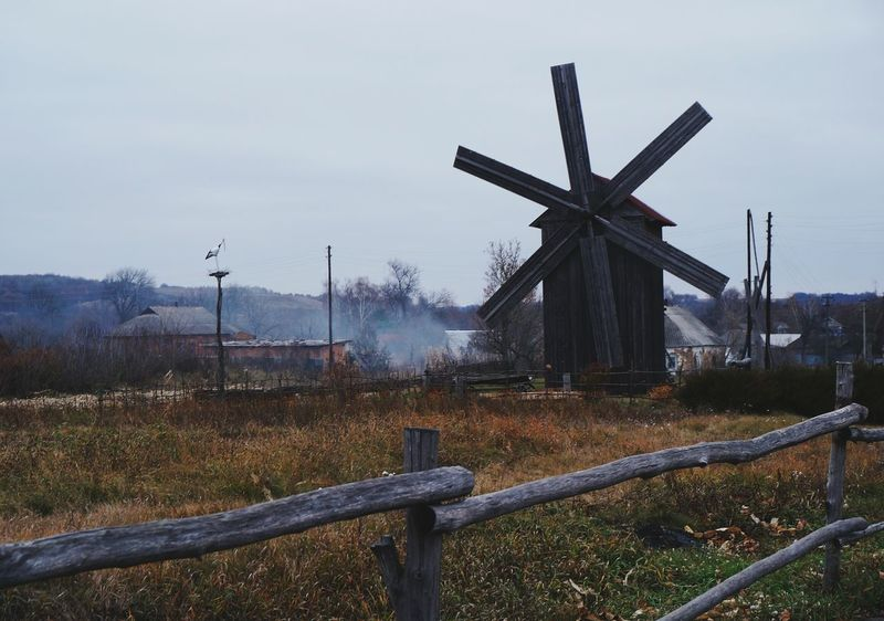 Пустовойтовка Windmill Agriculture Rural Scene Sky No People Nature Day Outdoors Beauty In Nature Sony Осень 🍁🍂 осень прекрасна 🌾🍂🍃 Nature осінь First Eyeem Photo Travel Wetland Tourism