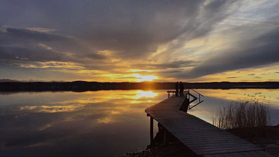 Lake Bavarianlifestyle Chill Iphonesix Beauty In Nature Sunset First Eyeem Photo