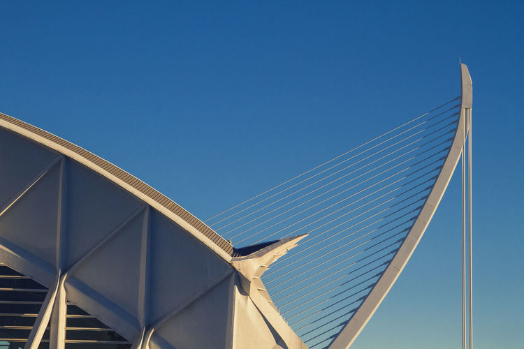 Architecture Calatrava LINE Modern SPAIN Shapes València Architecture Blue Bluesky Built Structure Clear Sky Day Low Angle View Nature No People Outdoors Sky